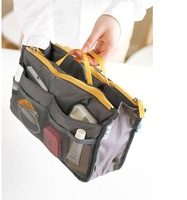 Cosmetic Bag in bag,Double zipper portable multifunctional travel pockets Handbag Storage bag,Fadish travel Cosmetic Makeup Bag