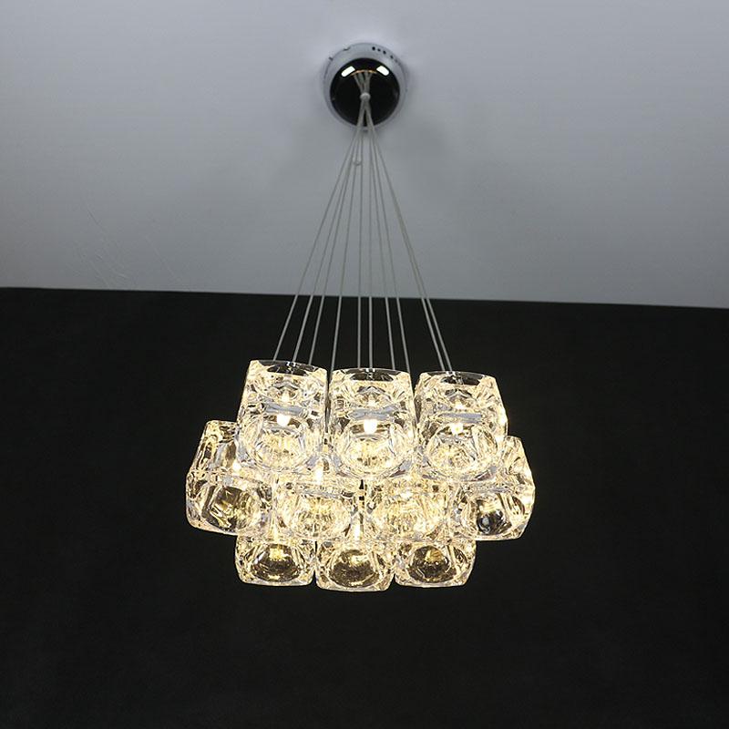 Crystal glass ice pendant light modern brief lamp fashion G4 bar lamps(China (Mainland))