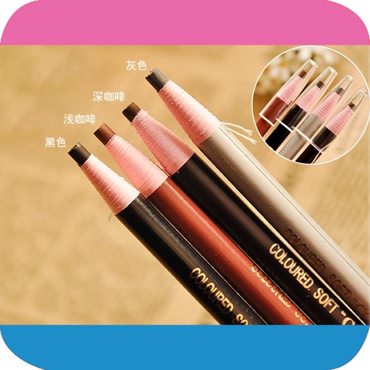 Top Sale / Korea Brand / Colors Eye Eyeliner Pencil Waterproof Eyebrow Beauty Pen Eye Liner Lip Sticks Cosmetics Eyes Makeup(China (Mainland))