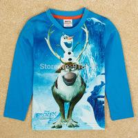 Snow Romance 2014 Fashion New Children's Cartoon T-shirt Cotton Round Neck Long-Sleeved T-shirt Boys