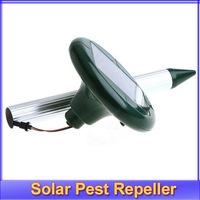 New Solar Power LED Mole Mouse Mice Gopher Rodent Pest Repeller Chaser +free shipping