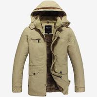 Winter Coat Men Large Size 3XL Jacket Warm Fashion Male Overcoat Parka Outwear Cotton Padded Hooded Coat ZX100