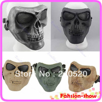 Death Skull Bone Airsoft Full Face Protect Mask Free Shipping Paintball Game Hunting Biker Ski Guard Mask