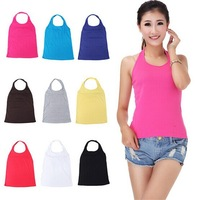 Free Shipping 9Colors Fashion and Sexy Solid Tank Top and T Shirt