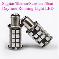 DRL Running Lights LED Lamp Sagitar/Sharan/Scirocco/Seat Available Daytime Running Lights DC12V 1156 Interface Socket Car LED