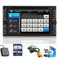 2014 New GPS Two 2 DIN In Dash 6.2'' Navigation TV BT iPod Radio Car DVD Player Stereo Bluetooth Ipod ATV USB SD FM+Rear Camera