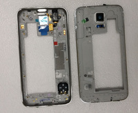 For Galaxy S5 i9600 G900F G900H Rear Middle Frame Bezel Housing Geunine New Silver
