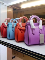 Top Grade Quality Tote 2014 Italy M&Q Famous Brand Designer Bags,Genuine Leather Women Handbags Many Colors Choose