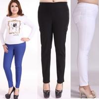 Big Plus size Long Trousers 4 Colors Big Women Pencil Pants Elastic Large 2XL- 6XL Skinny Trousers