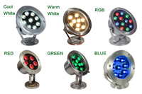 6W/12W/18W/24W/30W/36W Red Green Blue IP68 CREE LED Underwater Aquarium Pool Fish Tank RGB Spot light lamp 12V AC DC