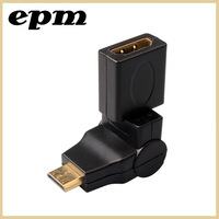Mini HDMI male to  HDMI Female Adapter Black  Converter Connector Adapter Adaptor Gold Plug Socket 360 degree