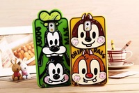 Graffiti Cartoon GOOFY MAX Silicon Phone Cases for Samsung Galaxy Note 3 case wholesale N324HY1