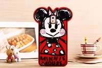Graffiti Cartoon Minnie Mouse Silicon Phone Cases for Samsung Galaxy Note 3 case wholesale N324HY4