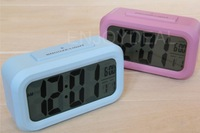 Large LCD Screen LED Blue Backlight  Alarm Clock Clear Time Display Clock