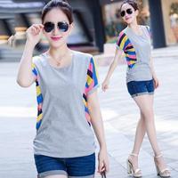 Free shipping New High street Women SummerCasual dress women 100% cotton Tops plus size XL-3XL