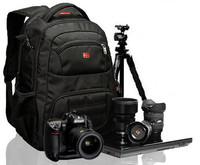 Professional SLR camera laptop backpack bag men's women black backpacks notebook bag 15.6'' computer nylon knapsack outdoor bags