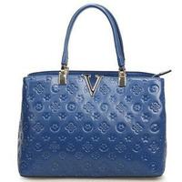 2015 NEW DESIGNER Fashion Embossed Genuine Leather Women Handbags Vintage Brief Lady Shoulder Bag Women Tote bags Free Shipping