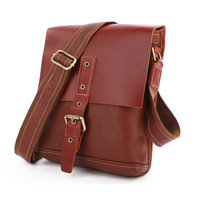 Vintage Genuine real leather Unisexual messenger bag Cowboy Vintage Leather Shoulder handbag JMD7157A-245