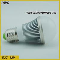 (5pcs/lot)led bulb e27 3W 5W 7W 9W 12W 5730 SMD AC/DC12V  LED Bulb Light  LampEnergy Saving Led Light free shippingLamps