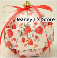 30Pcs Rose Floral Print Wedding Favor Gift Candy Boxes DIY with Golden Bell Red Ribbon Event Party Supplies