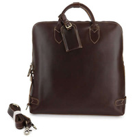 Vintage Genuine real leather Men buiness handbag laptop briefcase shoulder Travel bag / man messenger bag JMD7053C-360