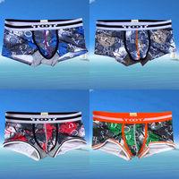 (C-511) 2014 New Fashion 4pcs/lot Men's Boxers Men's underwear cuecas boxer Mix Colors Free Shipping!!