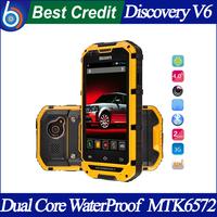 Original 4.0 Inch Discovery V6 SmartPhone MTK6572 Dual Core Android 4.2.2 Dual Cameras GPS Dustproof Shockproof WaterProof/Eva