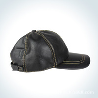 Both men and women leisure fashion shopping outing real cowhide hat baseball cap head circumference is adjustable