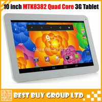 2014 Newest 10 inch MTK8382 Quad Core 3G Tablet PC Phone Call GPS Bluetooth FM WIFI Dual Camera 1024*600 HD DHL Free Shipping