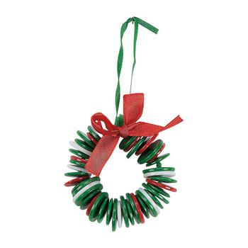 12PCS / LOT.DIY рождественские кнопку гирлянды ремесленные наборы, Button ремесел, Рождественская елка Oranment , Xmas игрушки , Xmas decoration.Novelty игрушки.