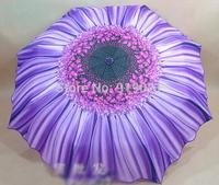 Korea new design womens umbrella chrysanthemum flower 3 color high quality