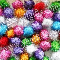 100PCS/LOT.4.5cm Glitter pompom,Multicolor pom-pom,Christmas ornament,Craft material,Xmas accessories,Freeshipping.Wholesale