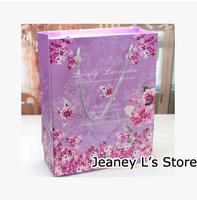 10Pcs Purple Lavender Wedding Favor Gift Treat Paper Bags Decoration