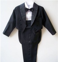children's clothing male child tuxedo five pieces  flower girl child birthday party evening suit (for 1-4 years)