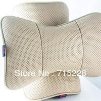 Car headrest genuine leather neck pillow car cushion car headrest a pair of car pillow bone pillow Free Shipping