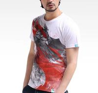 New Human guardians cotton game creative casual boy Men's Short Sleevse Cotton T Shirt basic shirt