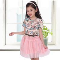 2014 summer new children's clothing girls dress  Height 110 ~ 160cm