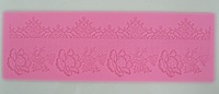 Free Shipping  Beautiful  Rose design instant  fondant silicone lace mold cake mold  baking tools cake decorating  tools-Y055