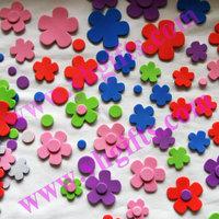 200PCS/LOT.Flower stickers,Spring crafts,Foam adhesive stickers,Eva stickers, Home decoratin,Kindergarten oranment.Kids toy.