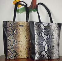 22014 Spanish brand MNG MANGO Bag snake skin serpentine pattern patchwork shoulder bag mango Handbag women leather totes 37023