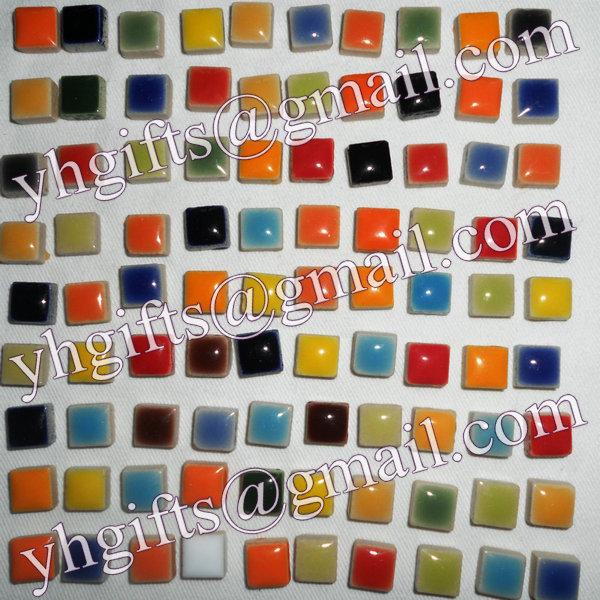 600 PCS / 600 grama/lote telha de mosaico de cerâmica porcelanato mosaico de corrida material de artesanato 0.95 x 0.95 x 0.5 cm grátis frete atacado(China (Mainland))