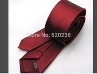 2014 New Style Fashion! Formal Wedding Party Groom Men's Solid Color Slim Plain Men Tie Necktie 24 Colors Optional 100pcs/lot