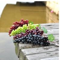 5pcs/lot Free shipping fashion Mini artificial fruit grape False fruits house decoration wholesale