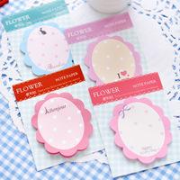 20pcs/lot Cute Flowers Memo Pad Sticky Notes Kawaii Paper Scrapbooking Sticker Pads Notepad Creative Korea Stationery Wholesale