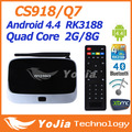 1pc CS918 MK888 K R42 Android 4 2 Quad Core RK3188 TV Box XBMC Preinstalled with