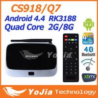 1pc CS918 MK888 K-R42 Android 4.4 Quad Core RK3188 TV Box XBMC installed Famous APPS  ADD ONS Bluetooth 2GB Ram 8GB Rom
