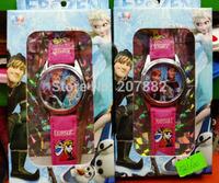 Wholesale 50pcs/lot Top Selling  Fashion Elsa and Anna Princess Wristwatch For Girls Cartoon Quartz Watch A3375 Free Shipping