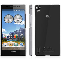 Huawei P7 case, Brand iMAK Super Thin Transparent Clear Crystal Case for Huawei Ascend P7 Sophia phone case +Screen protector