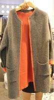 2014 new winter coat Korean Slim loose woolen coat long-sleeved jacket and long sections woolen coat women's coat jacket women