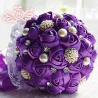valentine's day gift Romantic Rose ball-flower 100% handmade Luxurious wedding bouquets bride bouquet wedding accessories